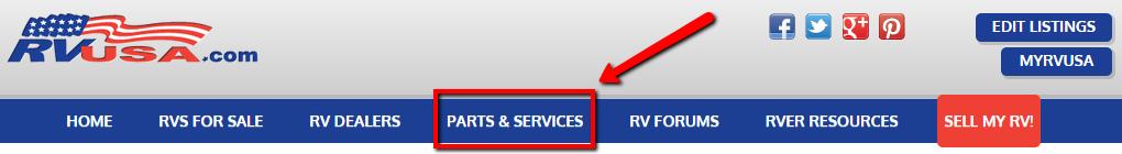 RVUSA Parts & Services Section