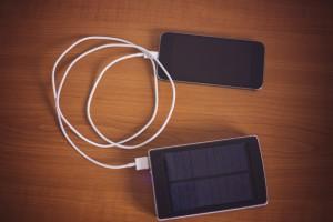 sun charged phone