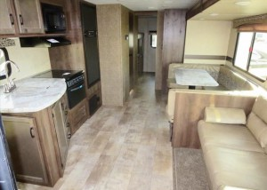 interior of kz connect C312BHK travel trailer