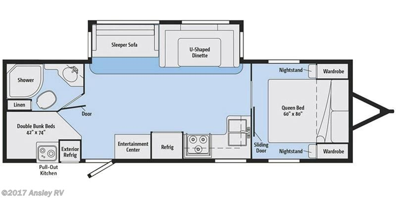 2018 Winnebago Minnie Plus 27BHSS floor plan