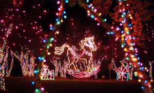 MAGICAL NIGHTS OF LIGHTS rocking horse