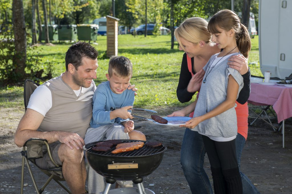 grilling while rv camping