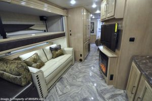 2018 Coachmen Sportscoach 408DB couch tv fireplace