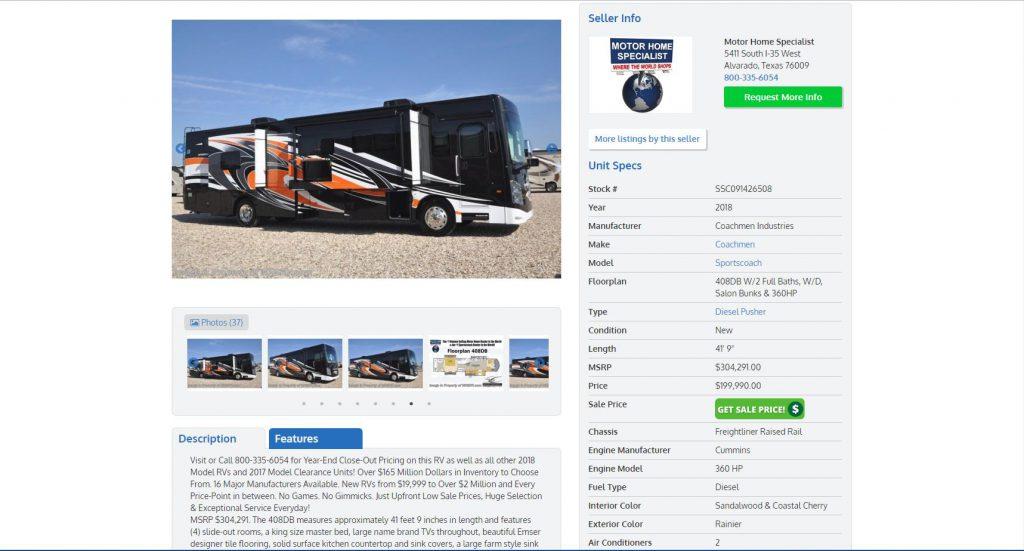 2018_Coachmen_ListingPage_Screenshot