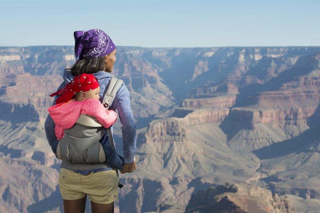 Mother and baby at Grand Canyon.
