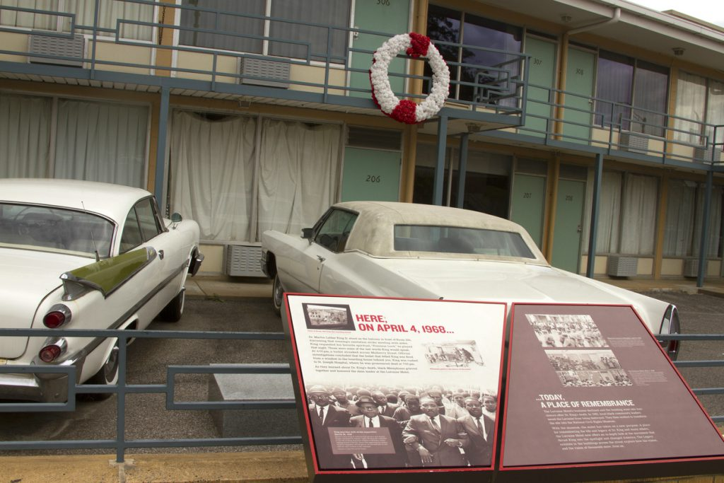 Rememberance to MLK at National Civil Rights Museum, Memphis