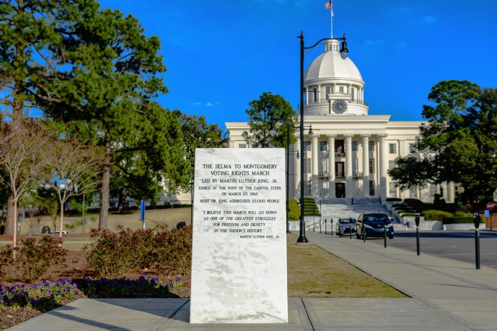 Selma to Montgomery Voting Rights March Marker