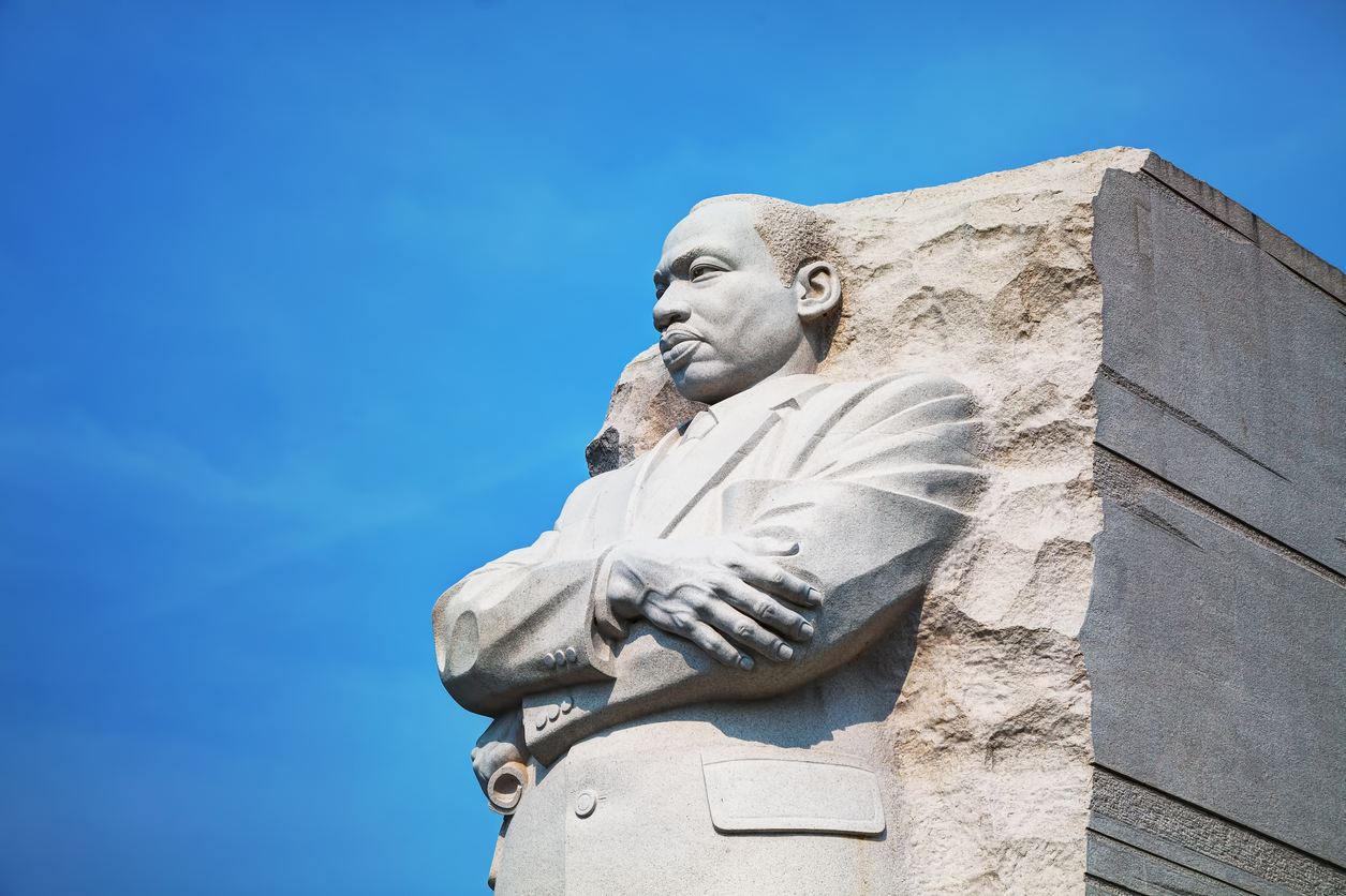 Martin Luther King, Jr memorial monument in Washington, DC
