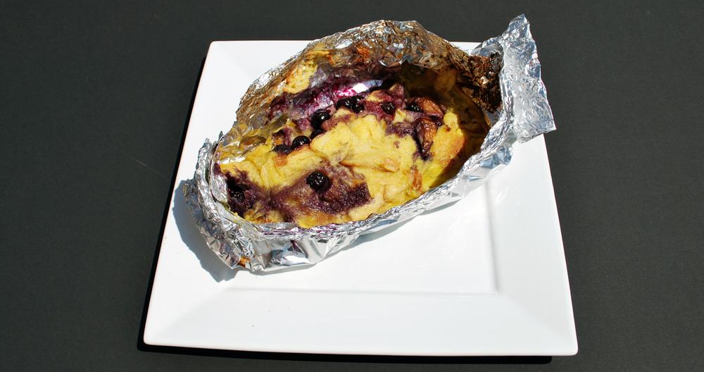 Blueberry foil pancakes