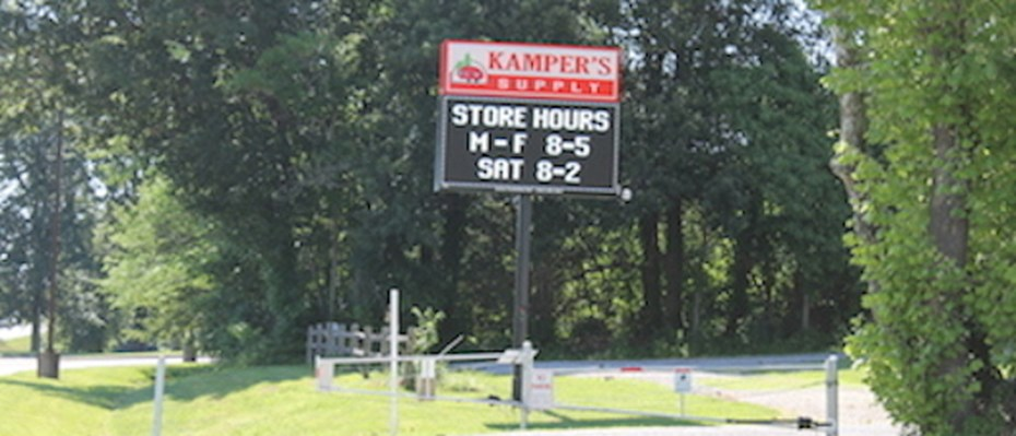 kampers supply sign