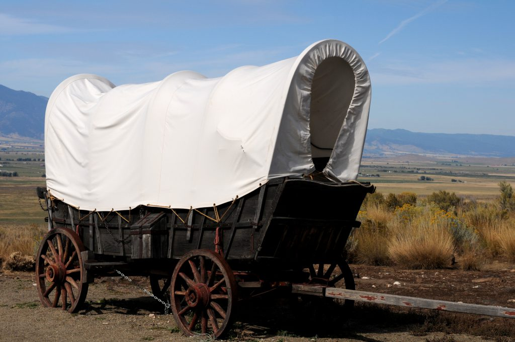 Conostoga Wagon at National Historic Oregon Trail Interpretive Center