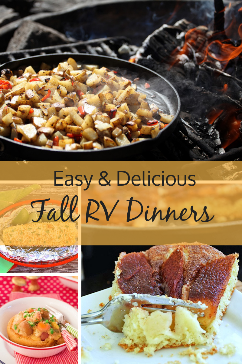 Easy & Delicious Fall RV dinner Ideas. Soul warming meals perfect for cooking in your RV kitchen.
