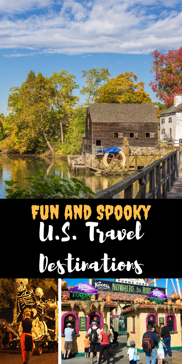 Fun and Spooky U.S. Travel Destinations. It's getting spookily close to Halloween, and we couldn't be more excited! We hope you are too, because we've compiled a list of the topSpooky U.S. Travel Destinations to get you in the…spirit…for the creepiest holiday of the year.