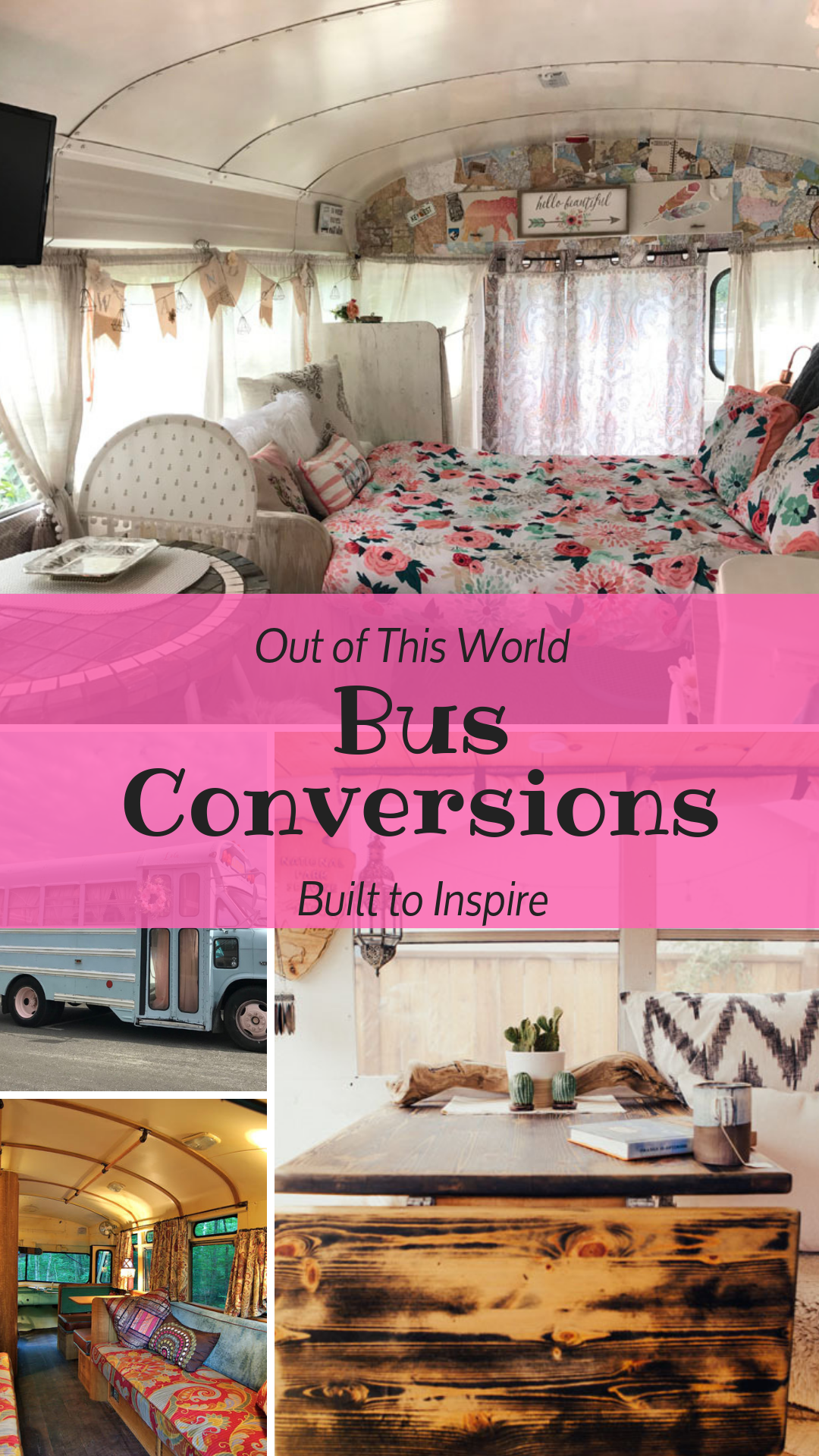 These bus conversions are out of this world! Tiny living at its best! These converted school busses will inspire you to get off the grid!