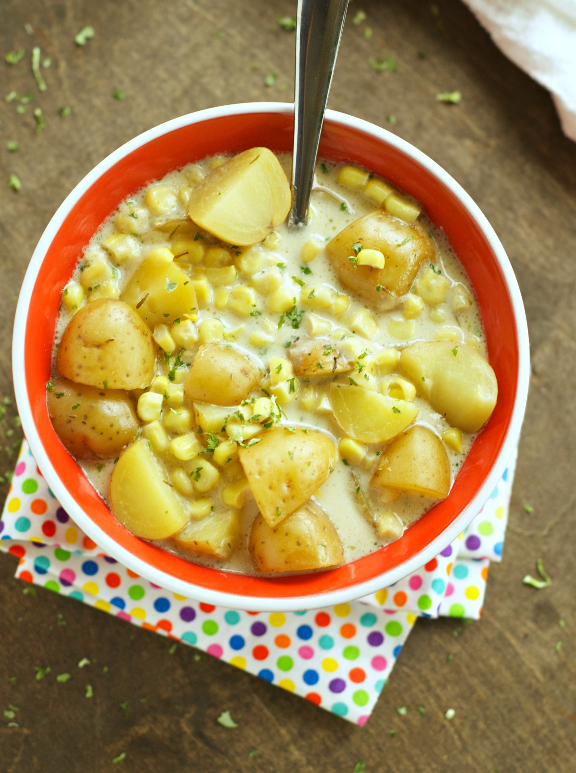 Slow Cooker Soups: Corn and potato Chowder