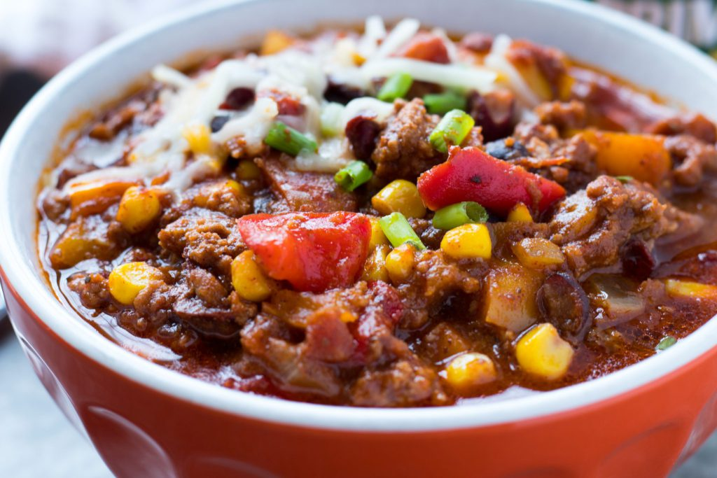 slow cooker soups: Loaded Slow Cooker Chili
