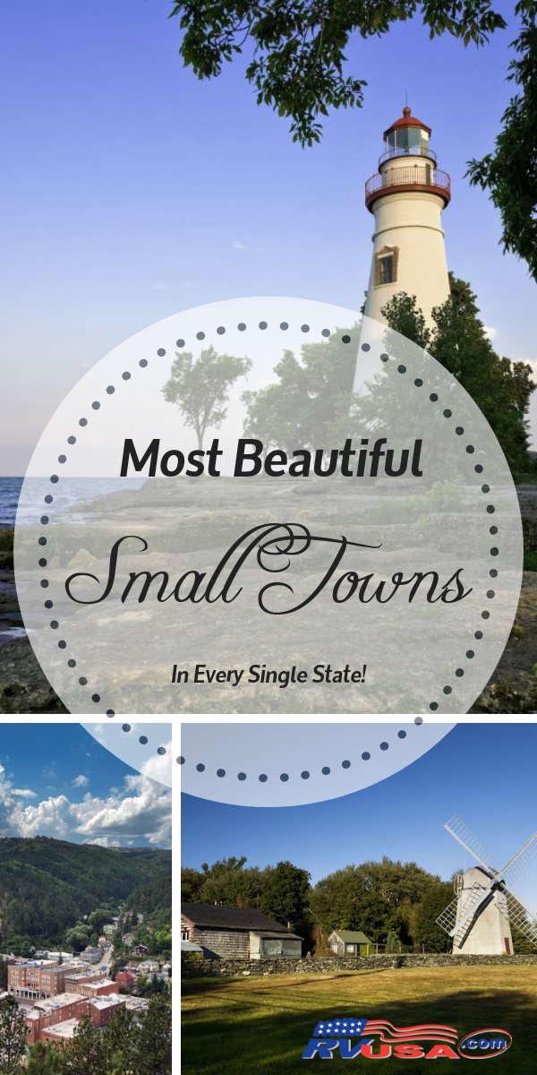 Check out the most beautiful small towns in every state! These are must see cities and towns, off of the beaten bath and brimming with natural beauty and that small town feel!