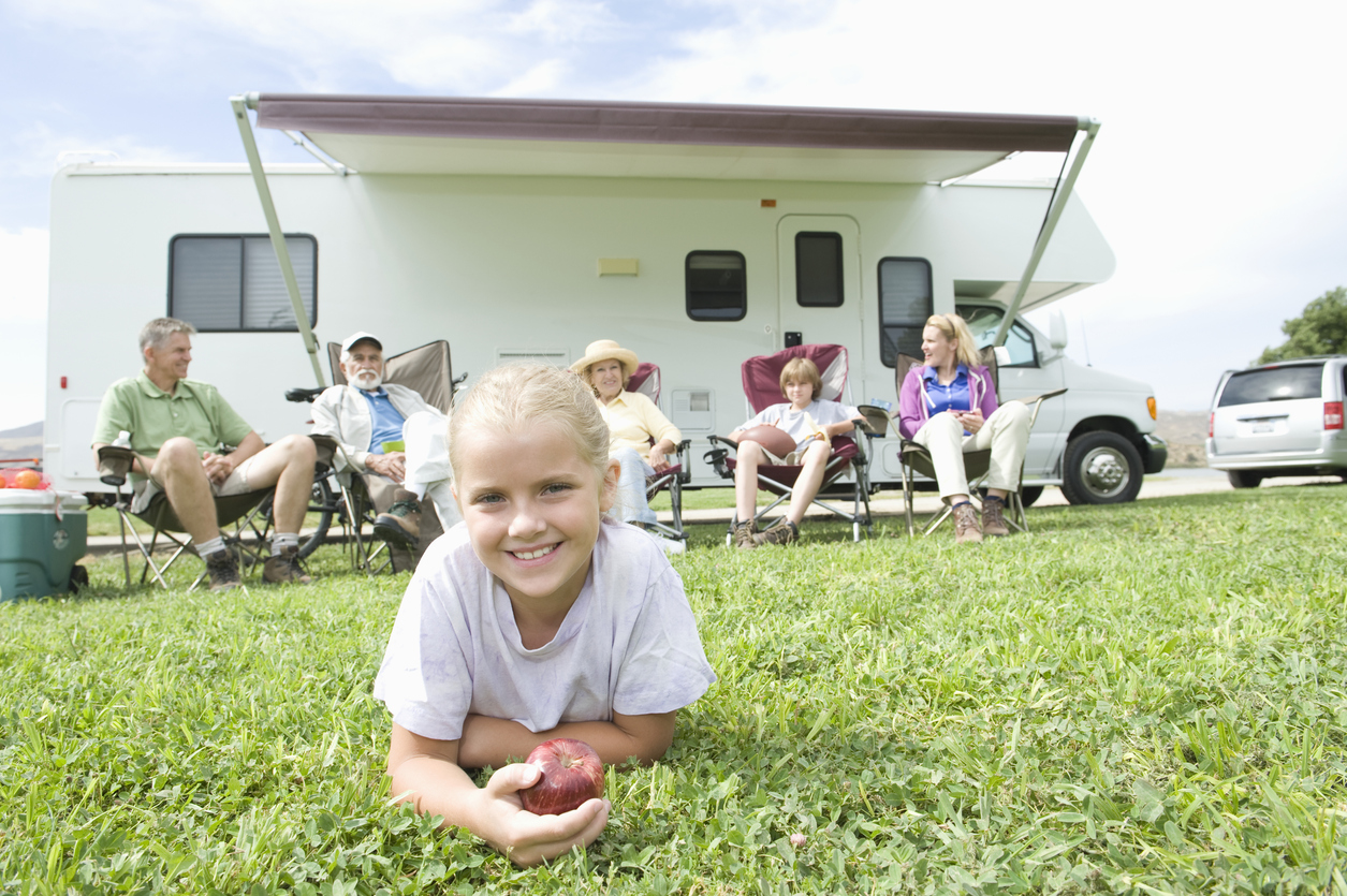family vacation in a motorhome