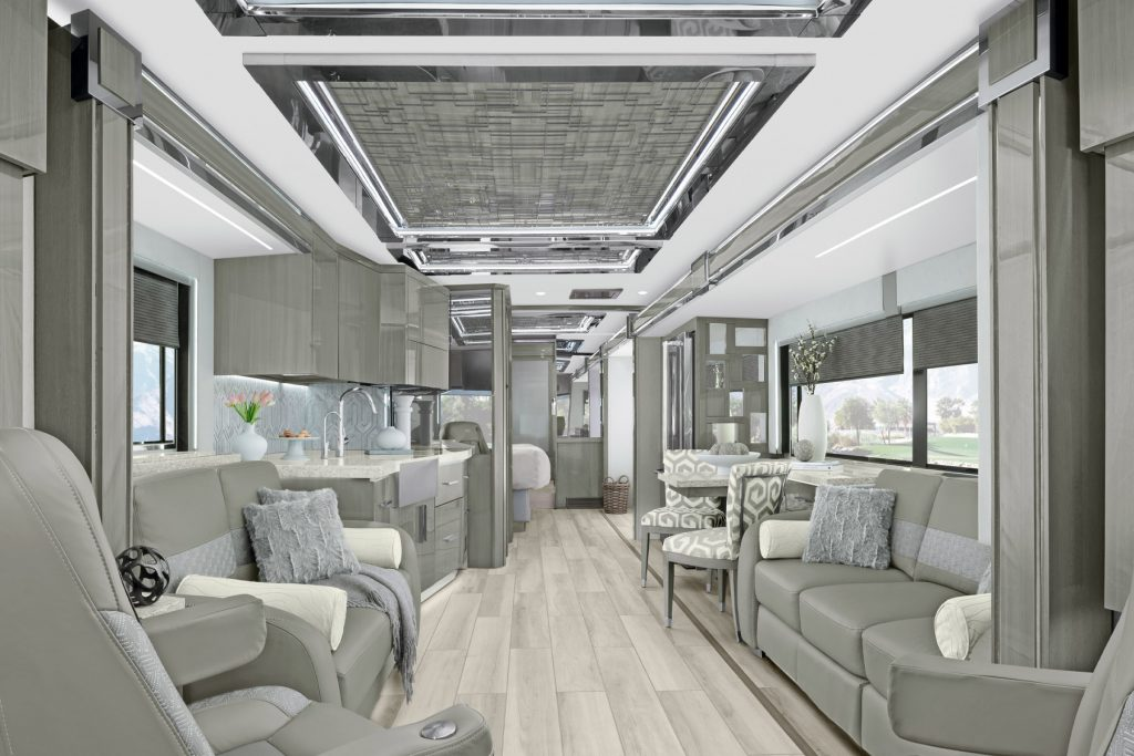 Luxury Class A RVs Newmar King Aire interior