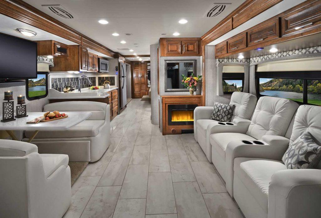 Luxury Class A RVs Forest River Berkshire interior