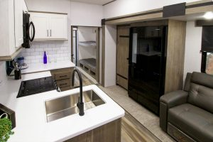 family-friendly bunkhouse fifth wheel interior