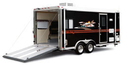 Available In Fifth Wheel Travel Trailer Class A And C Versions This RV Has Built Garage Specifically Designed To Haul Your Toys Including